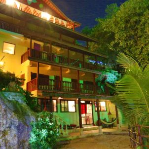 residence at night