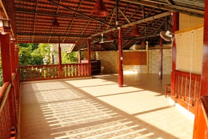 Yoga hall is big enough to fit 25 participants