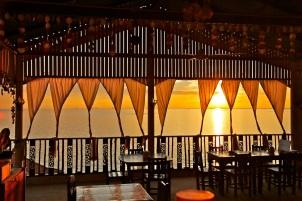 Enjoy sunset from residence restaurant
